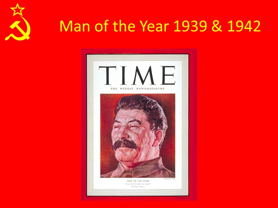 Man of the Year 1939 & 1942