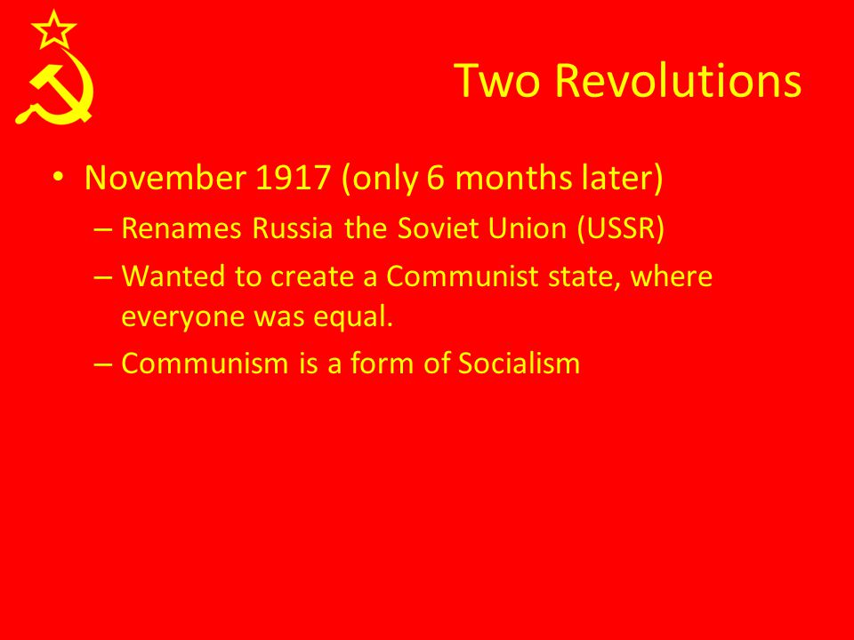 Soviet Communism In the USSR, Communism didn't work out exactly as planned In a classless society, who ends up as the boss.