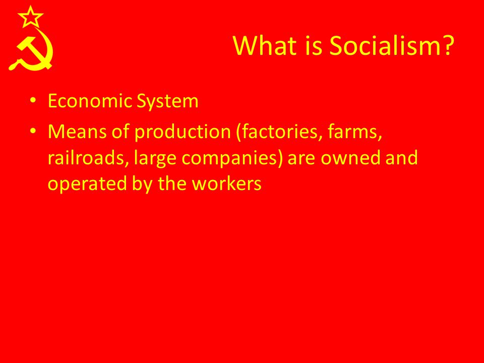 What is Socialism.