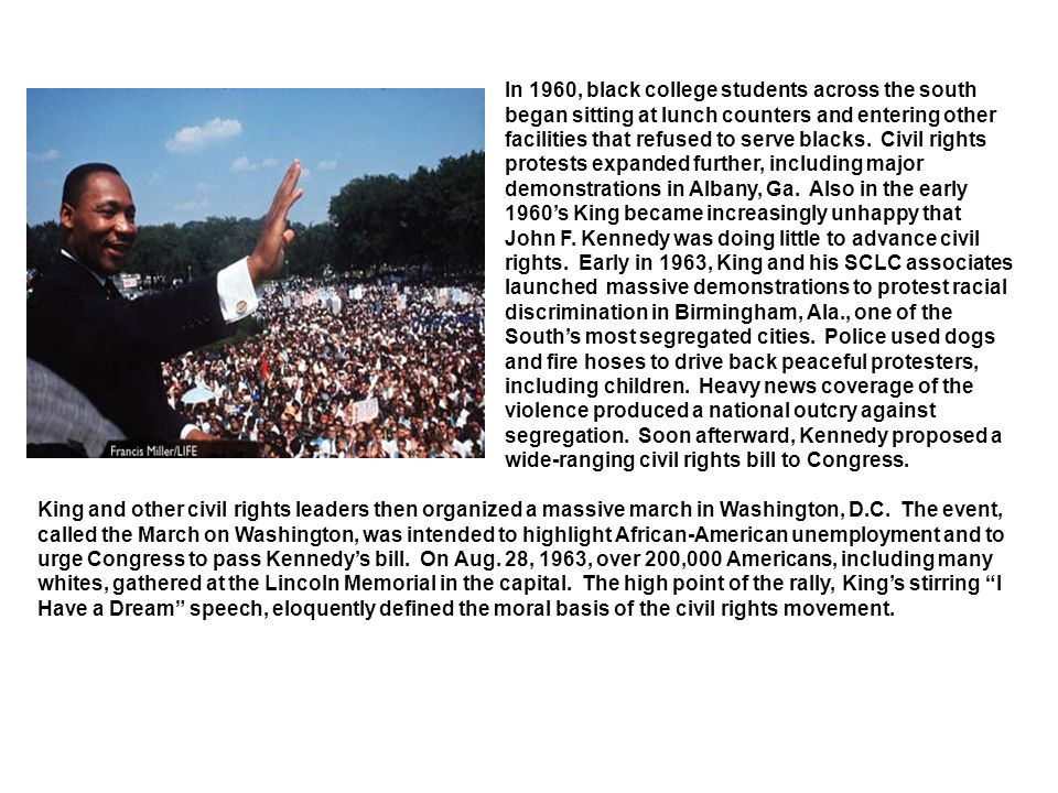 While organizing the Poor People's Campaign, King went to Memphis, Tenn., to support a strike of black garbage men.
