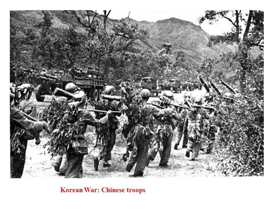 Korean War: Chinese troops