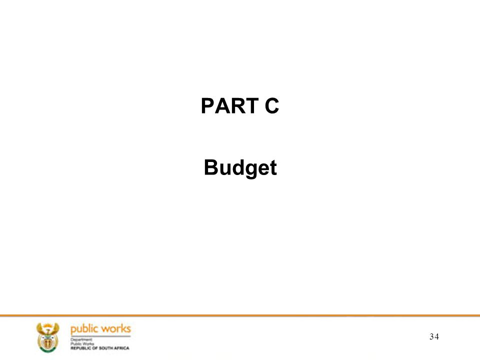 PART C Budget 34