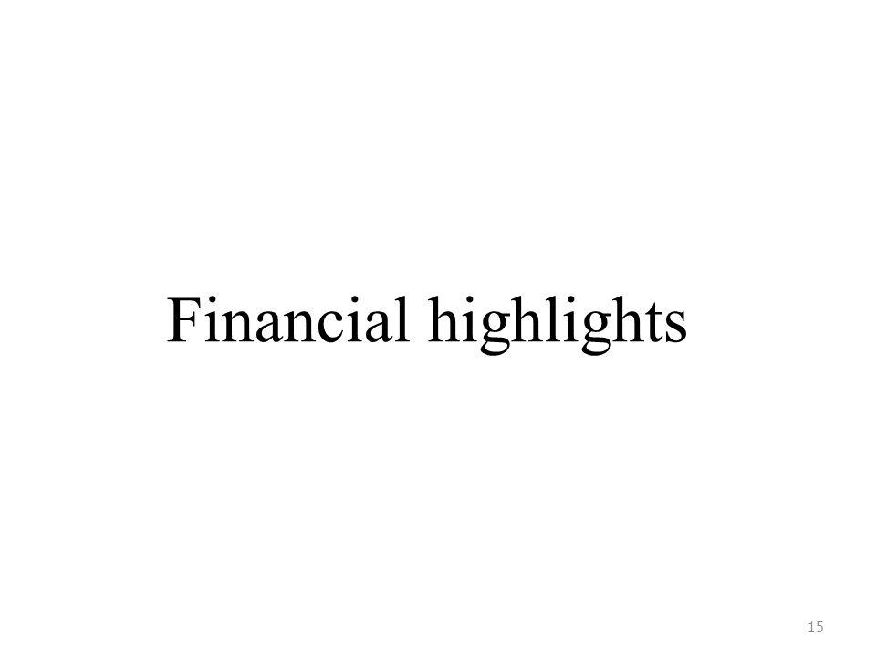 Financial highlights 15