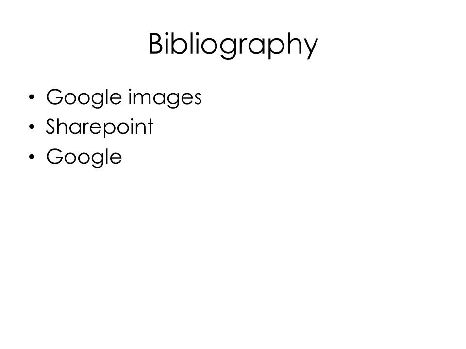 Bibliography Google images Sharepoint Google