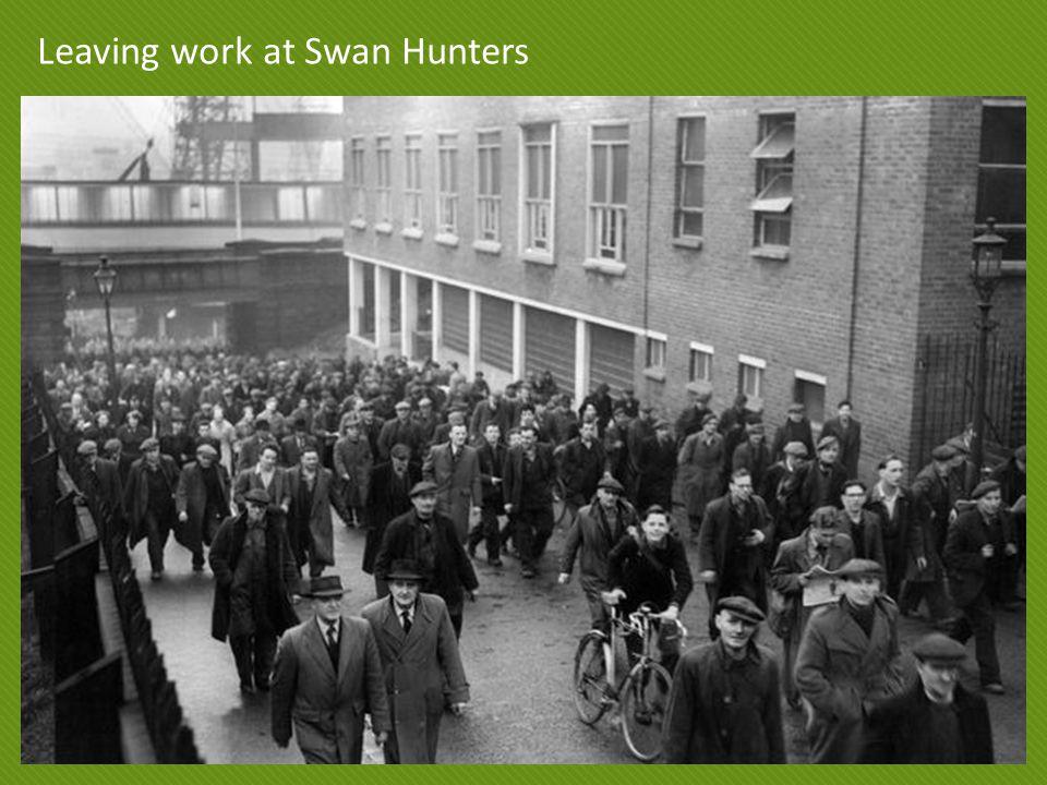 Leaving work at Swan Hunters