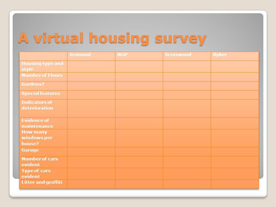 A virtual housing survey