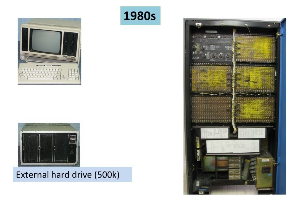 1980s All-in-one External hard drive (500k) Mainframe computer storage