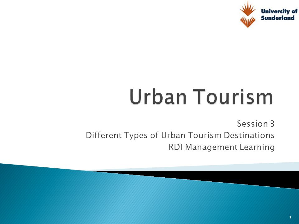 To conceptualise the urban tourism product  To identify different types of tourist cities  To look at ideal types of tourist cities  To investigate how the supply of tourist and leisure products often overlap in cities 2