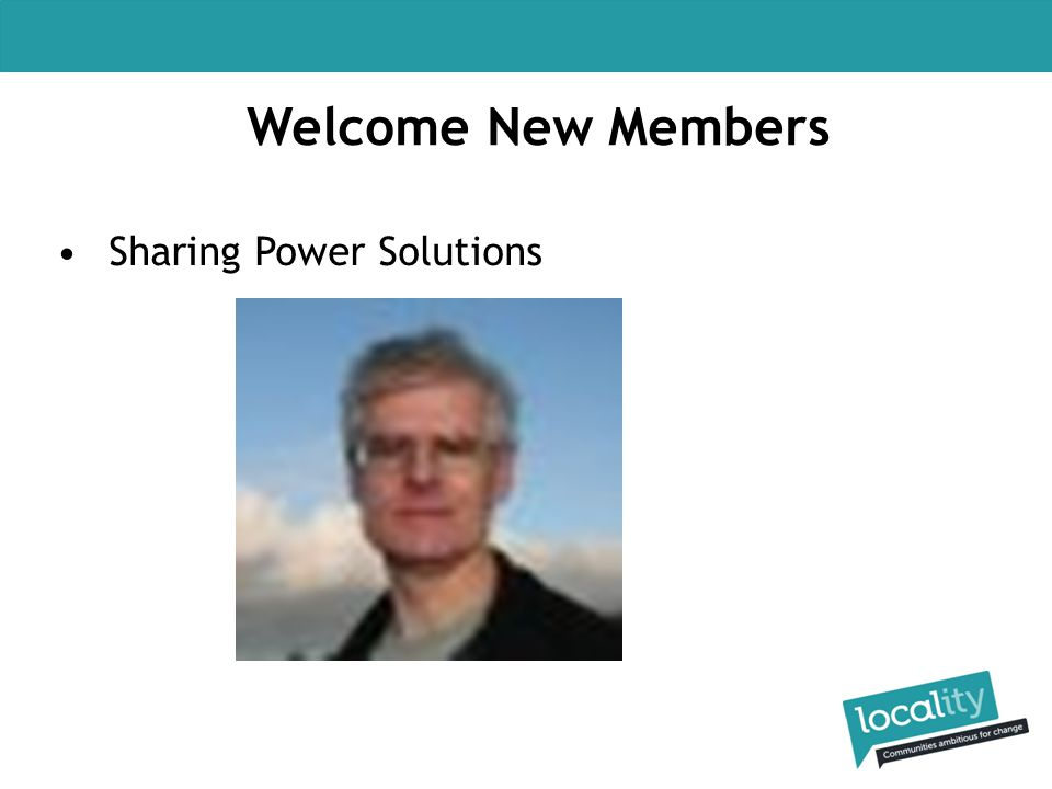 Welcome New Members Sharing Power Solutions