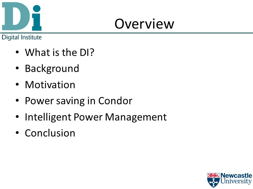 Overview What is the DI.
