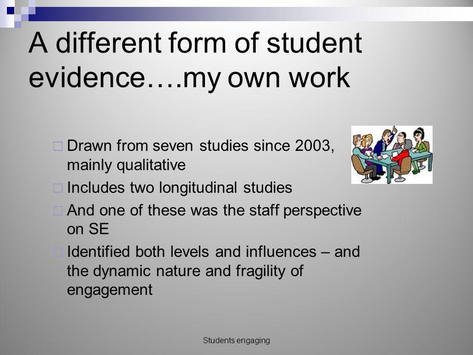 Key influences on engagement 1.