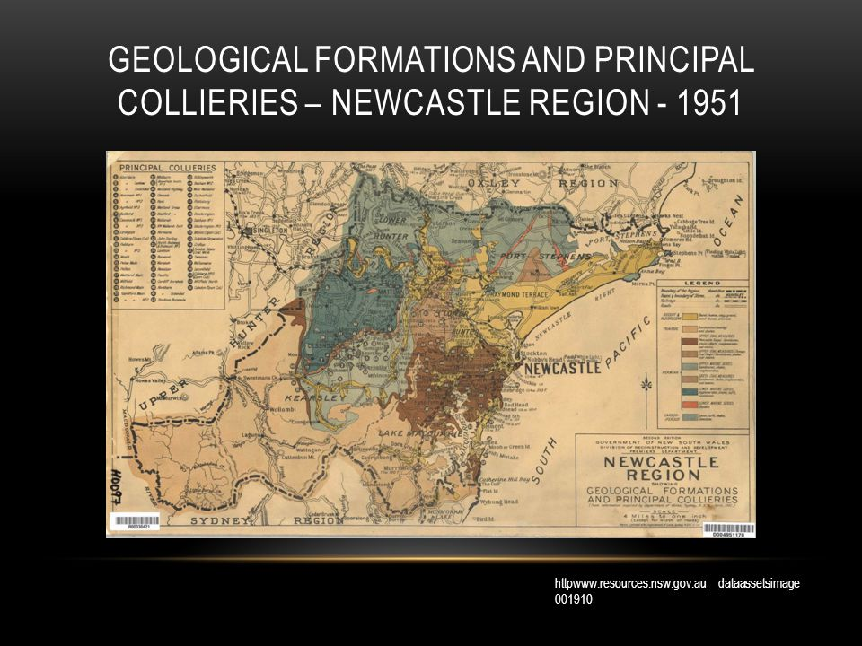 GEOLOGICAL FORMATIONS AND PRINCIPAL COLLIERIES – NEWCASTLE REGION - 1951 httpwww.resources.nsw.gov.au__dataassetsimage 001910