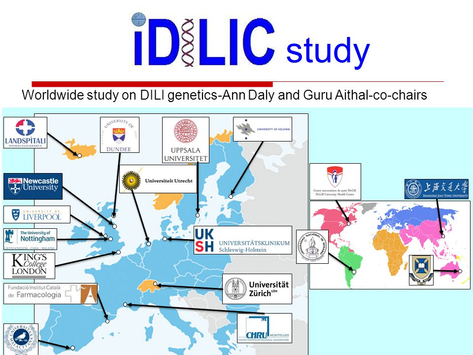Worldwide study on DILI genetics-Ann Daly and Guru Aithal-co-chairs study Genotyping methods Confirmed cases of flucloxacillin DILI were genotyped for