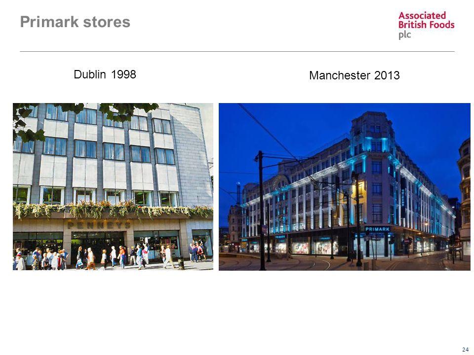 24 Primark stores Dublin 1998 Manchester 2013