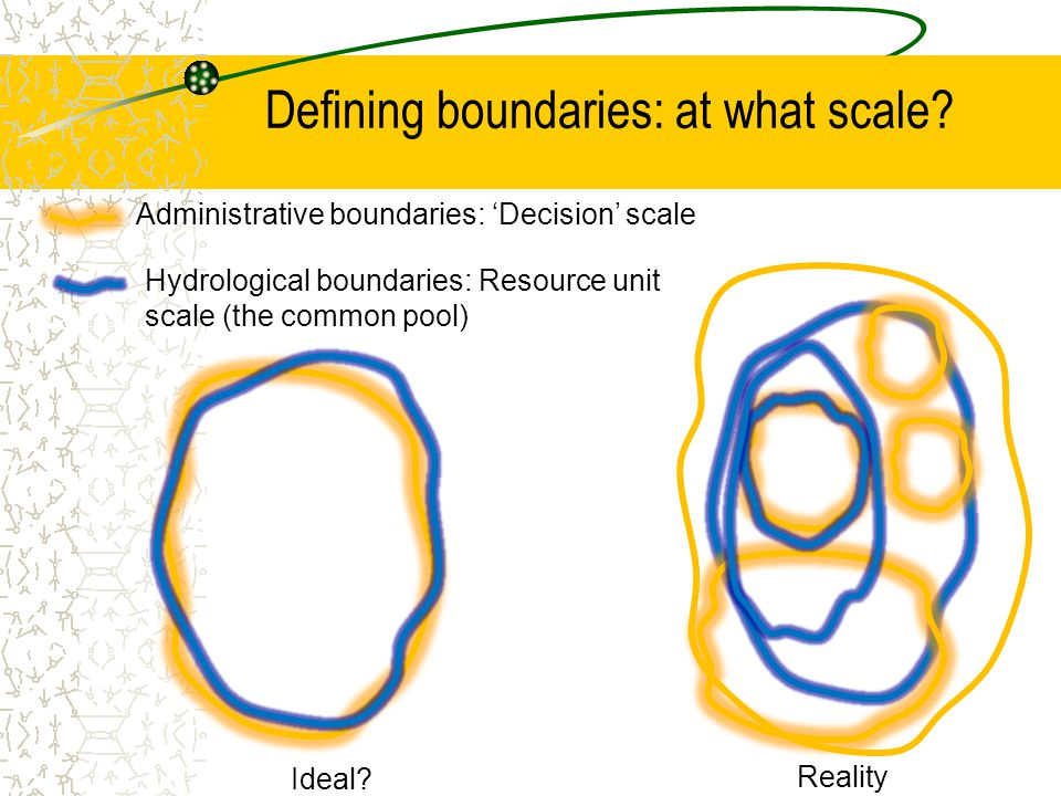 Defining boundaries: at what scale.