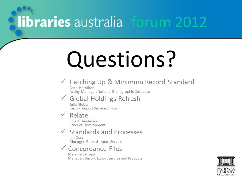 forum 2012 Questions.