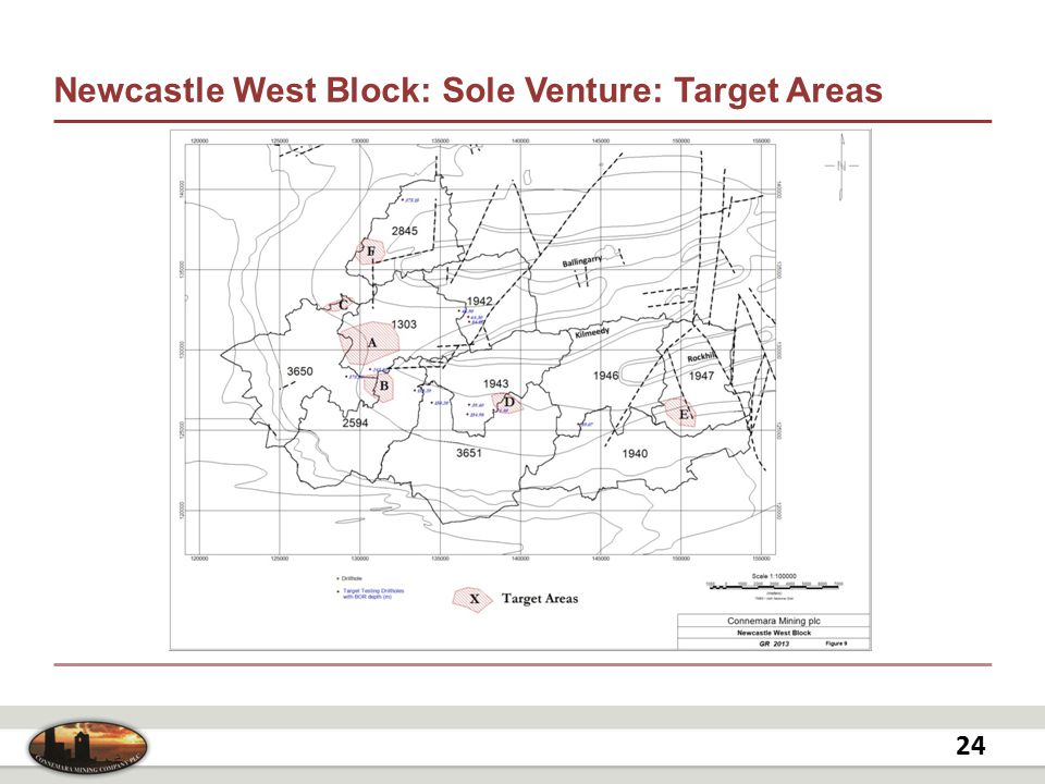 Newcastle West Block: Sole Venture: Target Areas 24