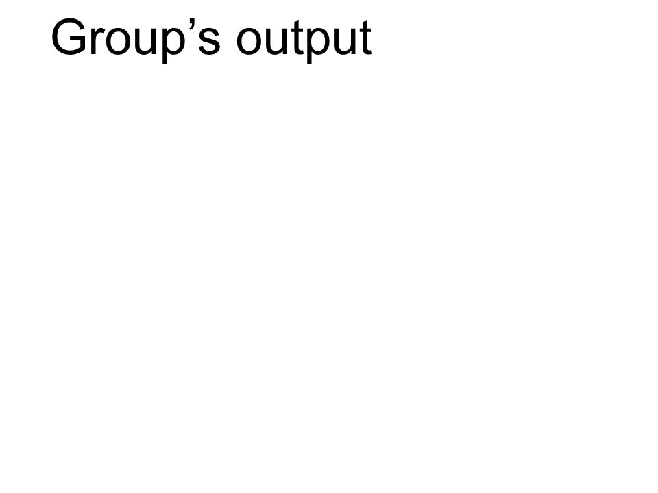 Group's output