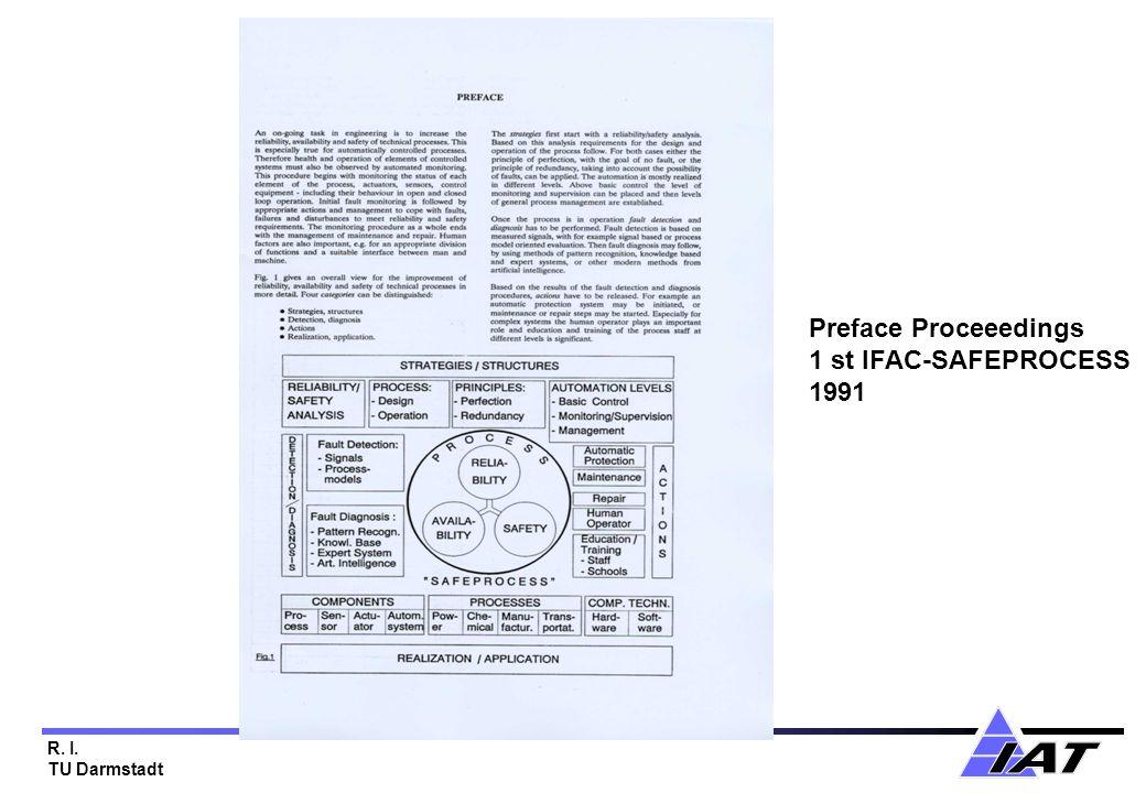 R. I. TU Darmstadt Preface Proceeedings 1 st IFAC-SAFEPROCESS 1991