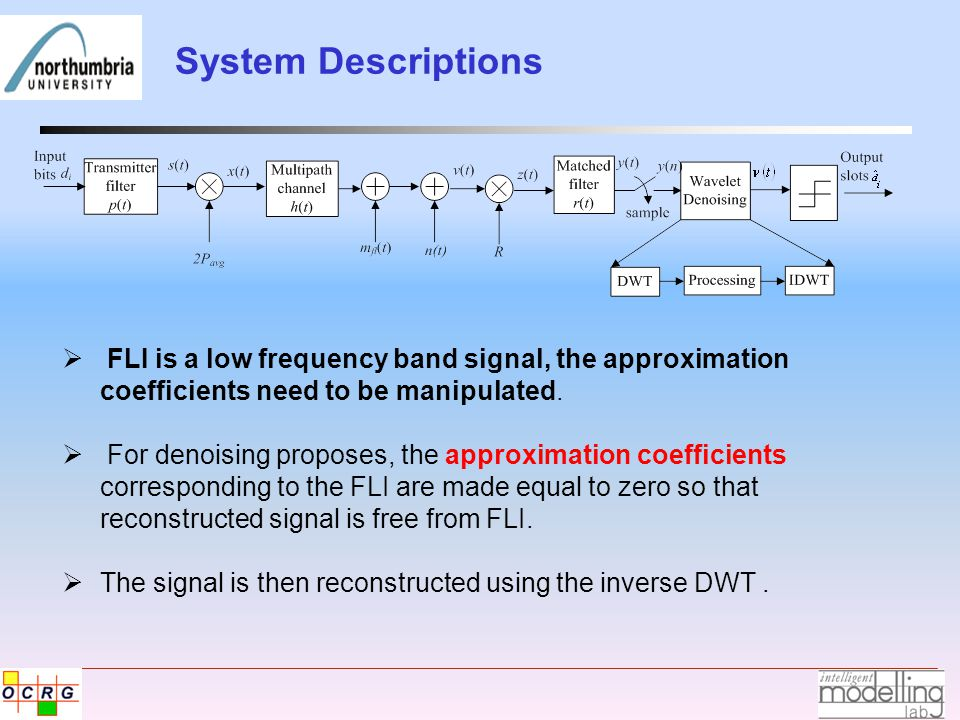 System Descriptions  FLI is a low frequency band signal, the approximation coefficients need to be manipulated.