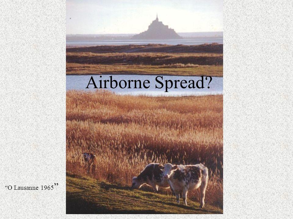 """Airborne Spread? """"O Lausanne 1965 """""""