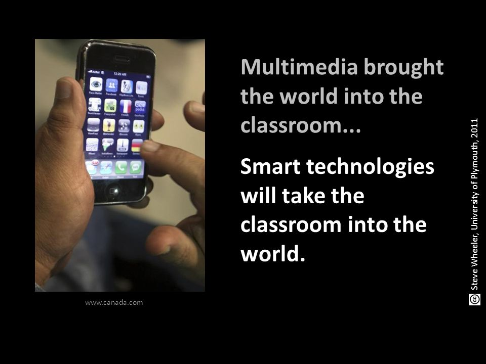 Multimedia brought the world into the classroom...