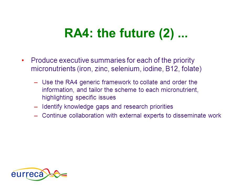 RA4: the future (2)...