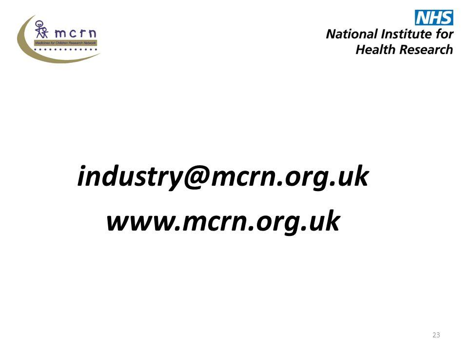 industry@mcrn.org.uk www.mcrn.org.uk 23