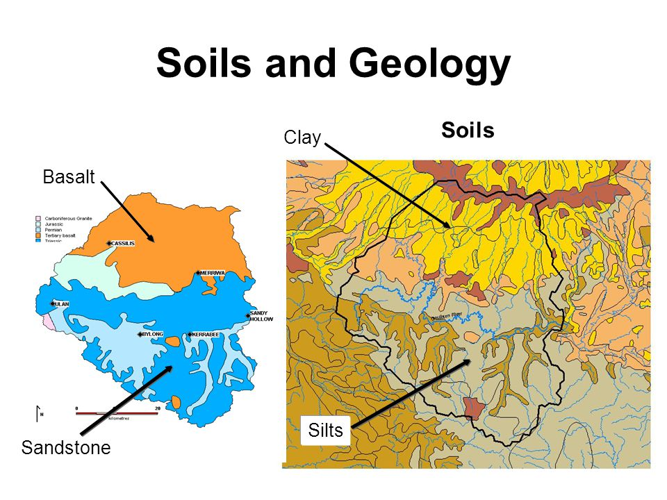 Soils and Geology Basalt Sandstone Soils Clay Silts