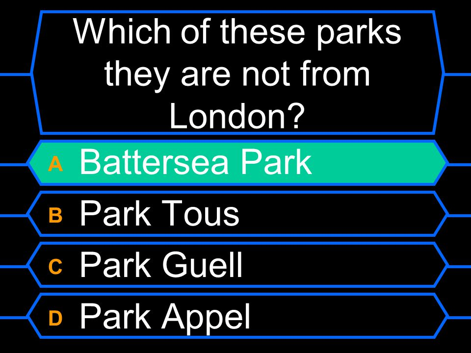 Which of these parks they are not from London.