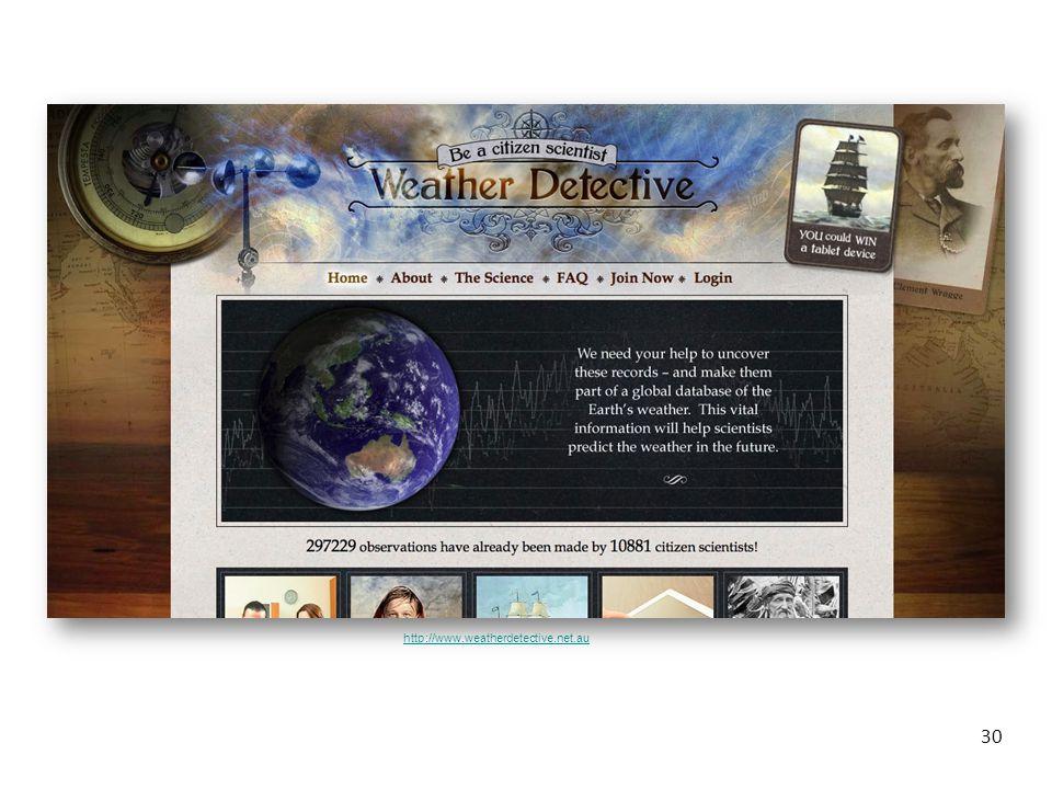 30 http://www.weatherdetective.net.au