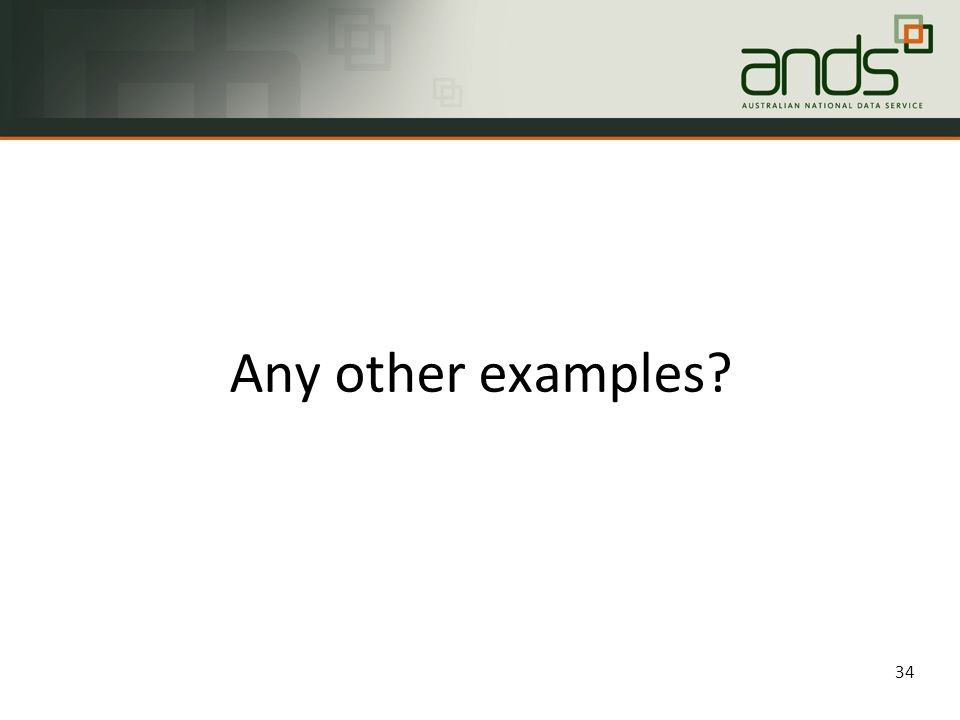 Any other examples 34