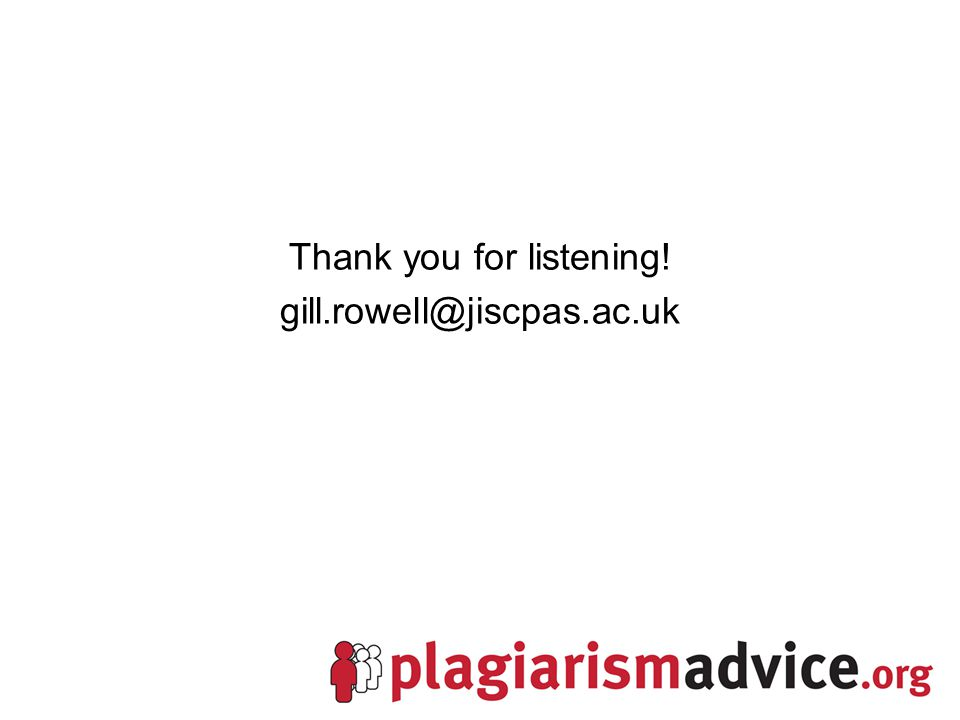 Thank you for listening! gill.rowell@jiscpas.ac.uk