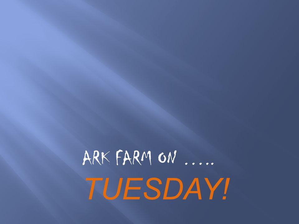 ARK FARM ON ….. TUESDAY!