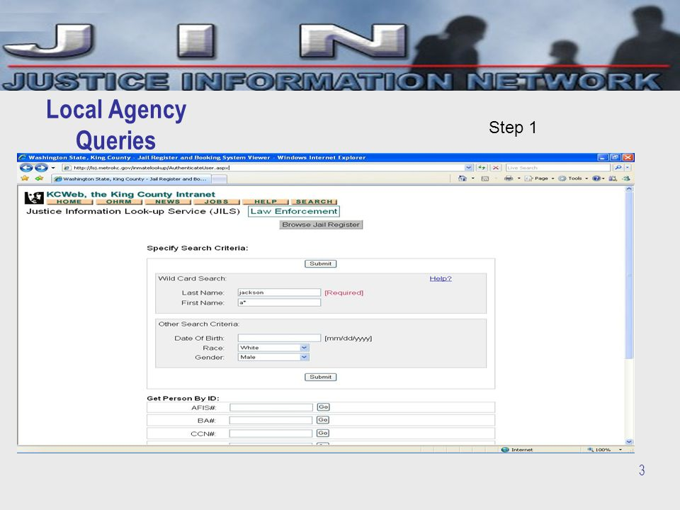 3 Local Agency Queries Step 1