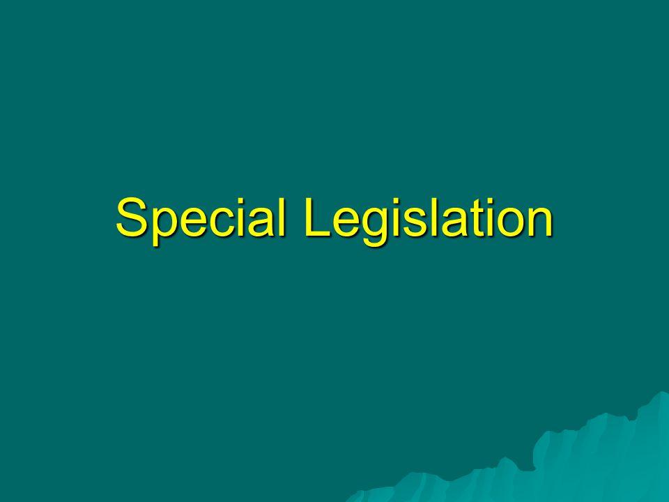 Special Legislation