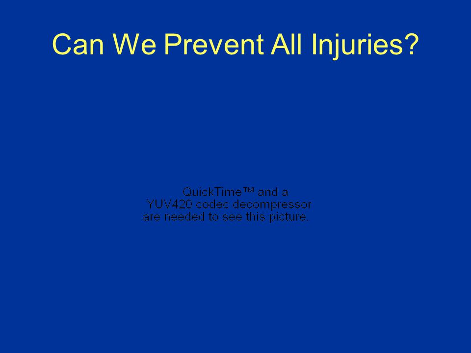 Can We Prevent All Injuries?