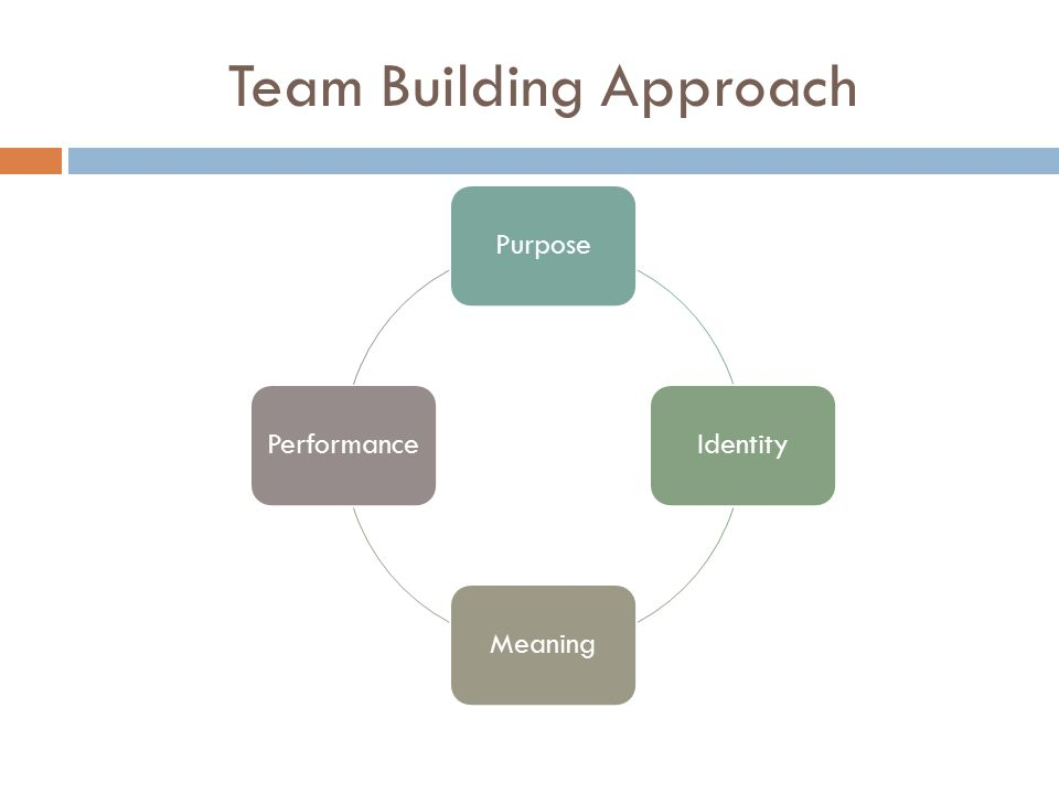 Team Building Approach PurposeIdentityMeaningPerformance