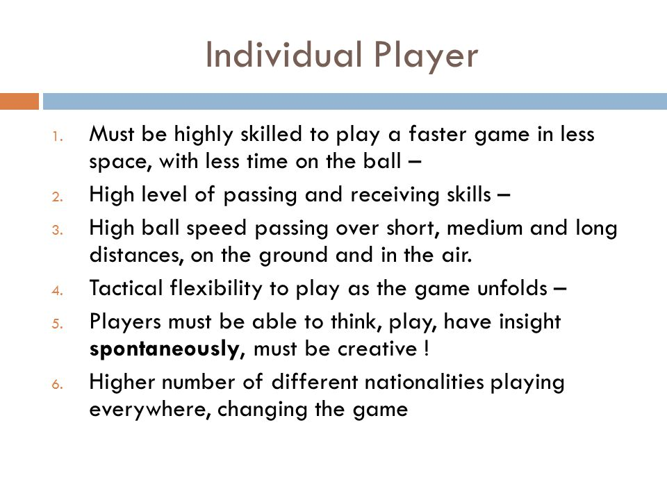 Individual Player 1.