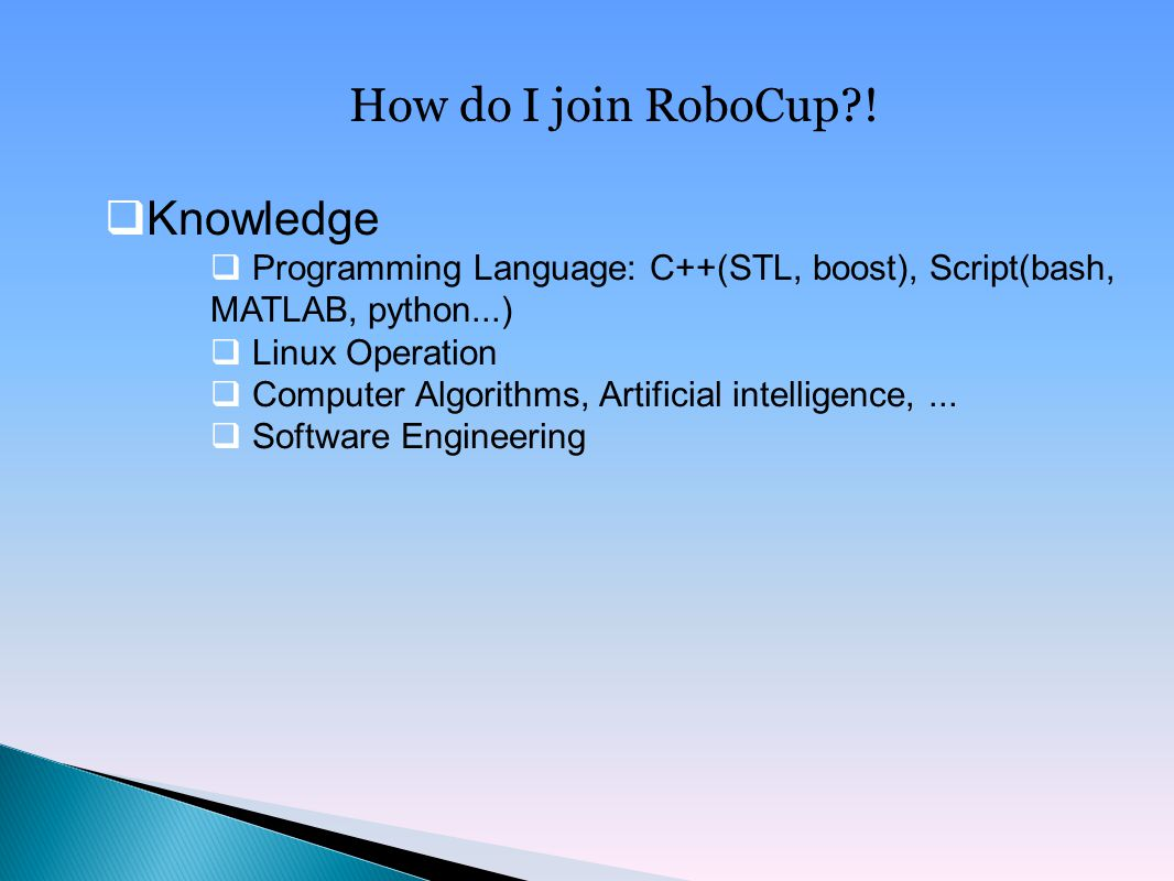 How do I join RoboCup .