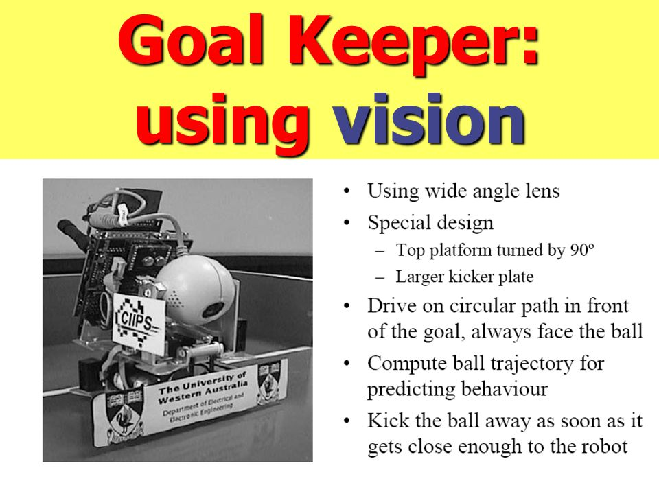 Goal Keeper: using vision