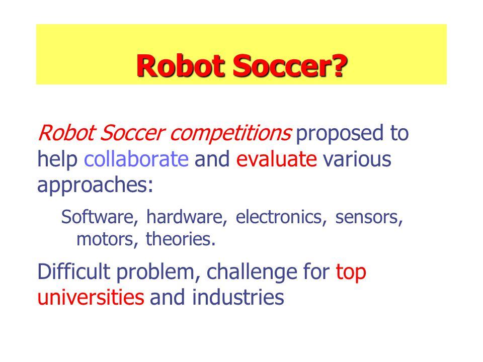 Robot Soccer.