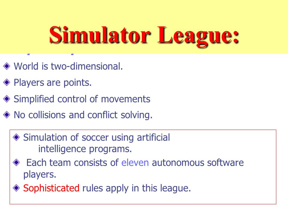 Simplified problem … World is two-dimensional. Players are points.