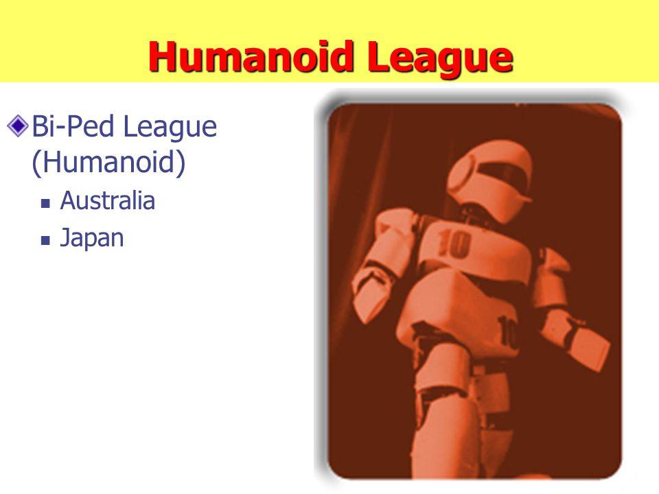 Humanoid League Bi-Ped League (Humanoid) Australia Japan