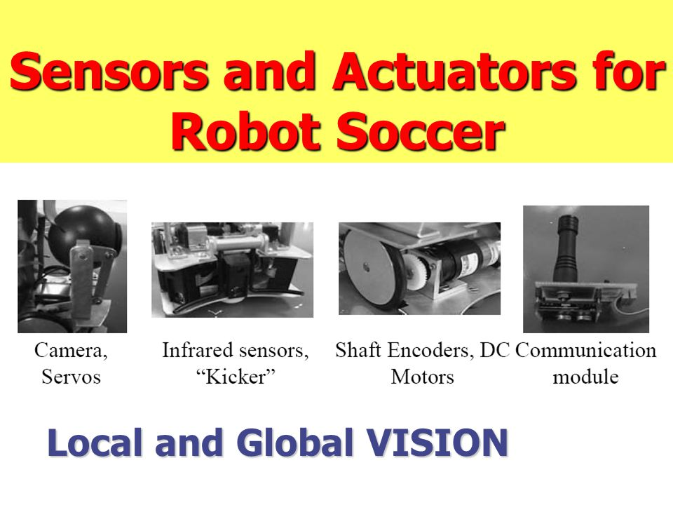 Sensors and Actuators for Robot Soccer Local and Global VISION