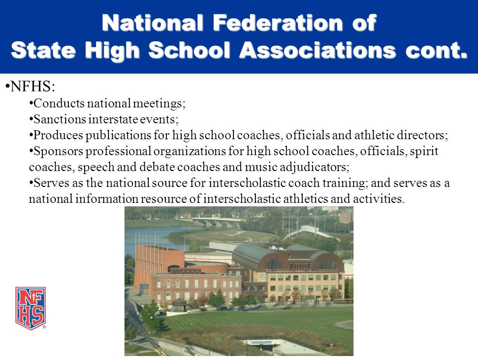 National Federation of State High School Associations cont.