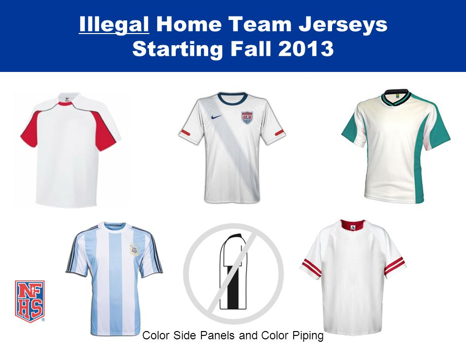 Illegal Home Team Jerseys Starting Fall 2013 Color Side Panels and Color Piping