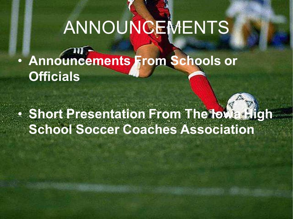Iowa High School Soccer Coaches Association Spring 2010