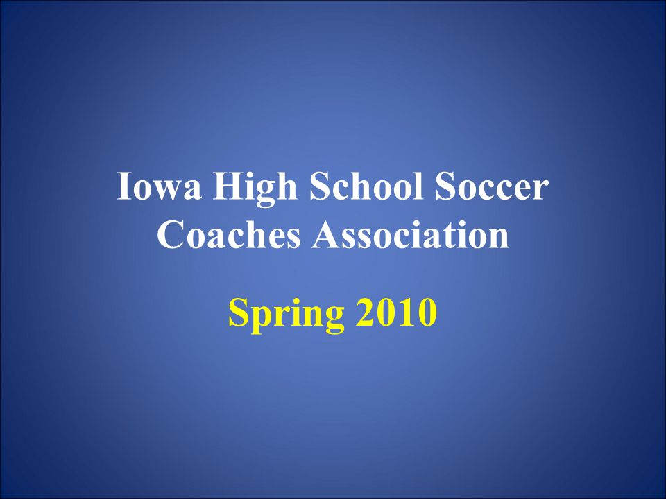 BOYS STATE TOURNAMENT INFORMATION THERE ARE THREE CLASSES OF BOYS SOCCER– CLASS 3A (48 schools) – CLASS 2A (48 schools) – CLASS 1A (remainder of schools) SUBSTATE GAMES WILL BE PLAYED ON MAY 24, 26, 29 BOYS STATE TOURNAMENT WILL BE A THREE (3) DAY TOURNAMENT DATES – JUNE 3, 4, 5 LOCATON – COWNIE SOCCER PARK-DES MOINES