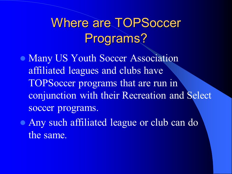 Why Should we have a program.
